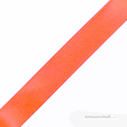"1/4"" x 12"" Light Coral Ribbons Pre-Cut"