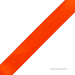 "1/4"" x 12"" Orange Ribbons Pre-Cut"