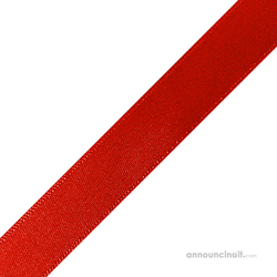 "1/4"" x 12"" Red Ribbons Pre Cut"