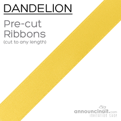 Pre-Cut 1/4 Inch Dandelion Yellow Ribbon