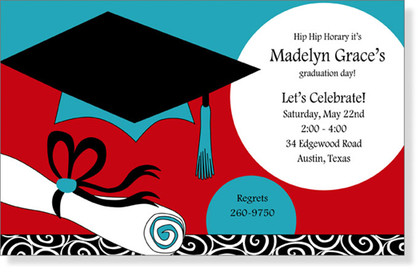 Teal & Red Graduation