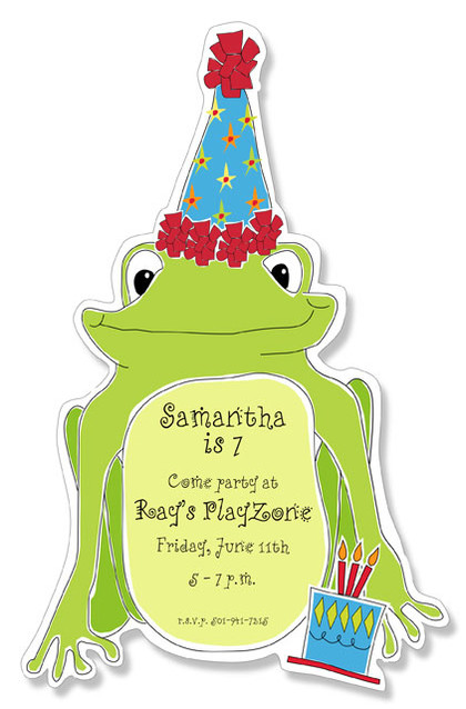 Diecut Party Frog
