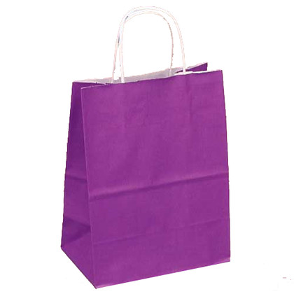 Upright Purple Favor Bag with Handle