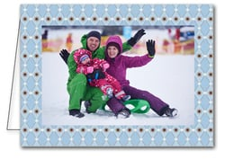 Blue & Brown Harlequin Holiday Photo Holder Cards*