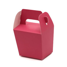 Hot Pink Mini Tote Paper Boxes