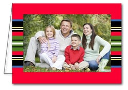 Multi Stripes Holiday Christmas Photo Holder Cards*