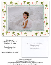 Palms & Dots Christmas Photo Holder Cards
