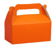 Orange Gable Handle Favor Box