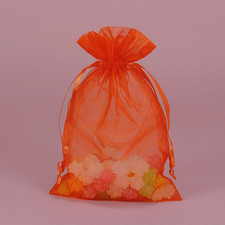 Shimmer Orange Organza Bag