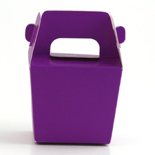 Purple Mini Tote Paper Boxes