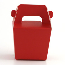 Red Mini Tote Paper Boxes