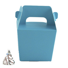 Turquoise Mini Tote Paper Boxes