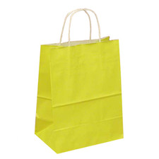 Upright Yellow Favor Bag with Handle