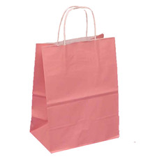 Upright Light Pink Favor Bag with Handle