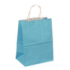 Upright Sky Blue Favor Bag with Handle