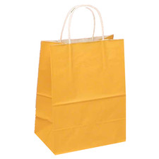 Upright Orange Favor Bag with Handle