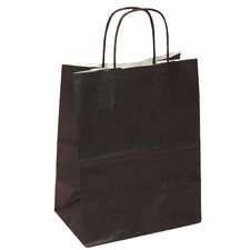 Upright Black Favor Bag with Handle