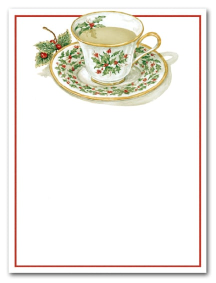 Christmas Teacup Holiday Party Invitations