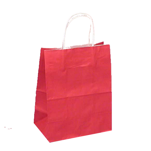 Red gift bags with white twisted handle birthday