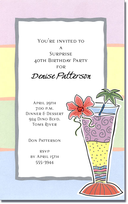 Tropical cocktail party invitations tropical treat stopboris Image collections