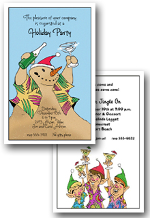 Tropical Holiday Invitations | Tropical Christmas Invitations