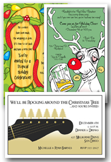 Whimsical Holiday Party Invitations | Whimsical Christmas Party Invitations