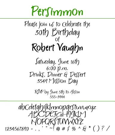 Font Persimmon