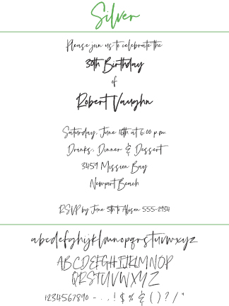 Font Silver