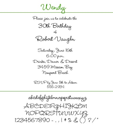 Font Wendy