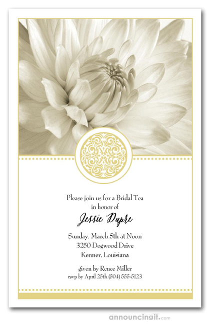 Golden Elegance Floral Invitations