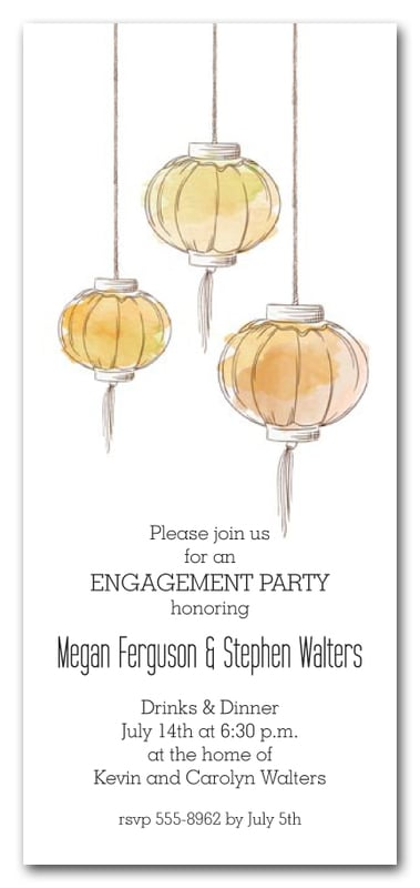 Golden Paper Lanterns