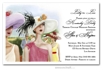 Derby Elegance Bridal Shower Invitations