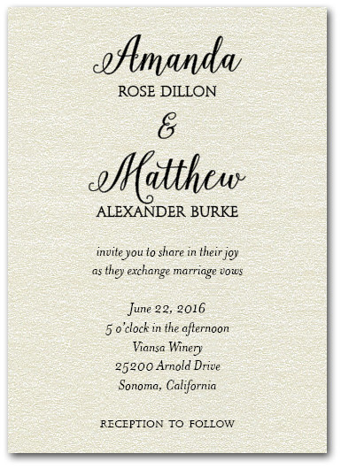 Classic Wedding Quartz Shimmer Invitations