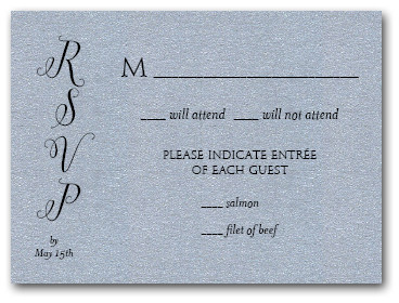 Classic Wedding Silver RSVP