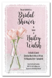 Bridal shower invitations bottle of pink roses bridal shower invitations filmwisefo