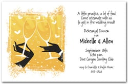 Champagne & Hearts Toast Invitations
