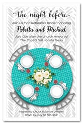 Tiffany Blue Table Party Invitations