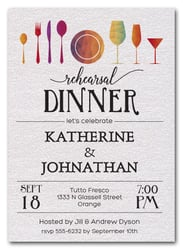 Rehearsal Dinner Invitations Fancy