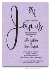 Join Us Shimmery Lavender Engagement Party Invitations