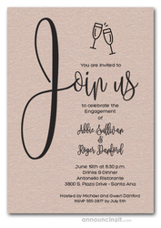 Join Us Shimmery Mink Engagement Party Invitations