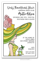 Derby Day Lady Bridal Shower Invitations
