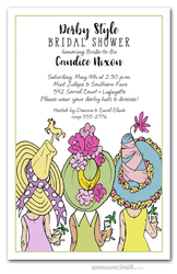 Derby Day Hats Bridal Shower Invitations