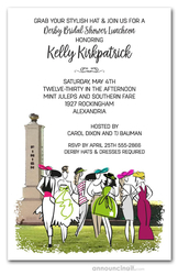 Ladies Finery Kentucky Derby Bridal Shower Invitations