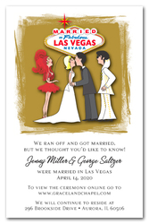 Blonde Married in Las Vegas with Elvis Elopement Invitations
