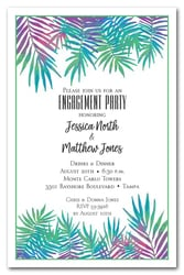 Neon Palms Engagement Party Invitations