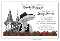 Noir Kentucky Derby Bridal Shower Invitations