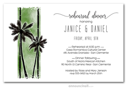 Palms on Green Rehearsal Dinner Invitations