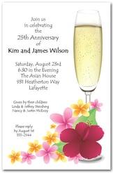 Luncheon invitations brunch invitations tea party invitations plumeria champagne stopboris Choice Image