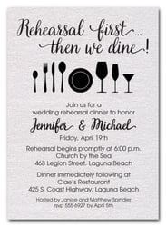 Rehearsal Dinner Invitations First White