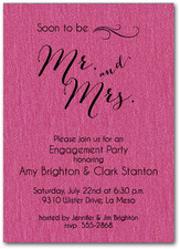 Shimmery Hot Pink Mr. & Mrs.